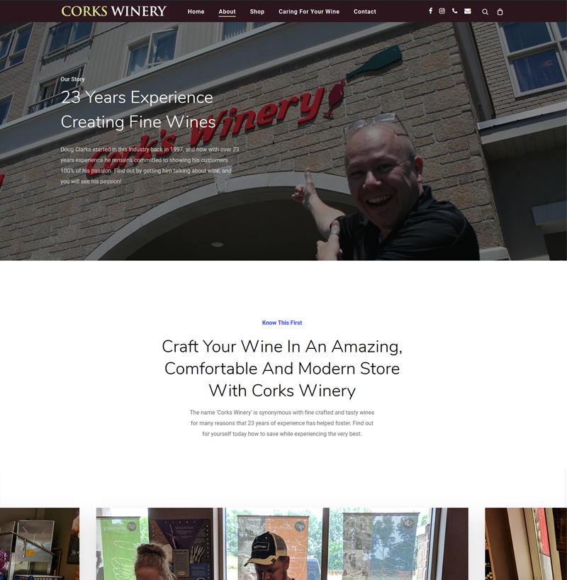 Corks Winery Website & SEO Project